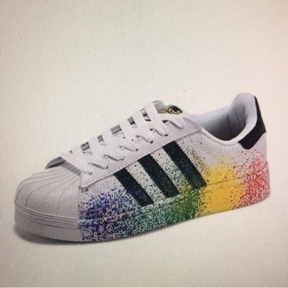 new design low priced good looking Limited Edition Adidas Superstars Pride Pack